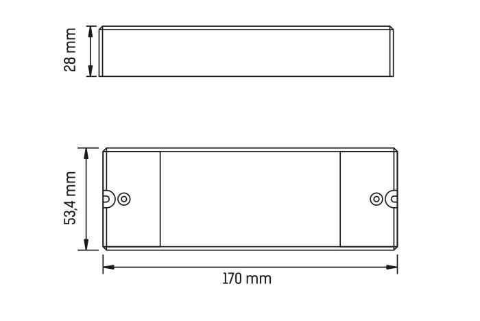 Sunricher jednokanálový stmívač 4v1 (SR-2303P 4in1)-Technický výkres